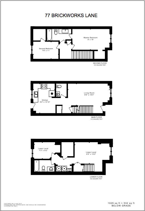 Floor plan: 1029 sq ft + 532 sq ft below grade