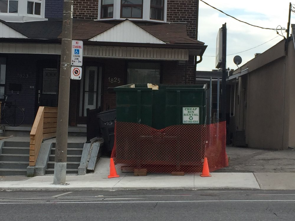 Our beautiful dumpster - It holds garbage, and dreams. In one safe place.