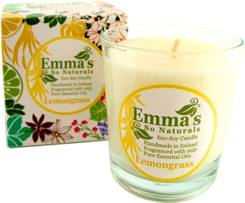 eMMA'S BOXED GLASS TUMBLER - Emma's Boxed Glass Tumbler wrapped in a beautifully designed and gift-able box. Emma's Large 250ml Tumbler Candle is ideal to fragrance any room in your home. Glass Tumbler is reusable after cleaning. Burn Time is approximately 50 Hours.