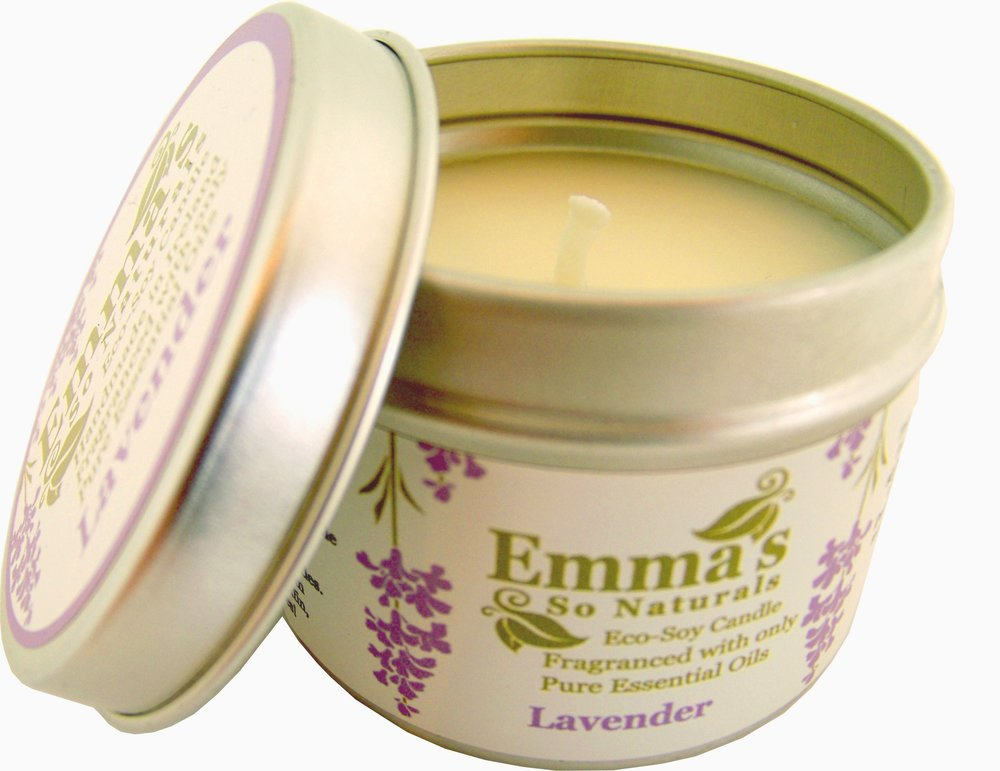 eMMA'S ROUND TIN CANDLE - Emma's Round Tin Candle with a lid, ideal for use in smaller rooms, such as a bedroom or an en-suite bathroom and also great for travel with their handy lid. These 100ml tins are packed with Essential Oils and come with a lid to seal in the oils when not in use. Burn Time is approximately 20 Hours.
