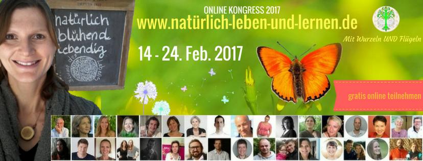 """Banner Online Kongress """"Natürlich leben und lernen"""""""
