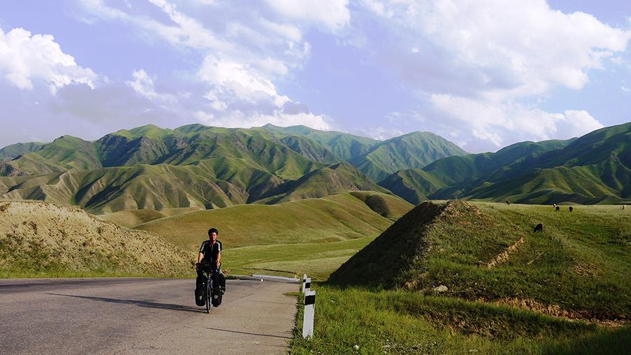 The countryside of Osh, Kyrgyzstan