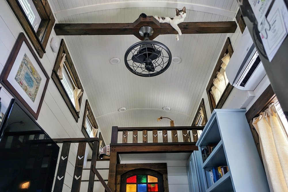 Tiny home barreled ceiling