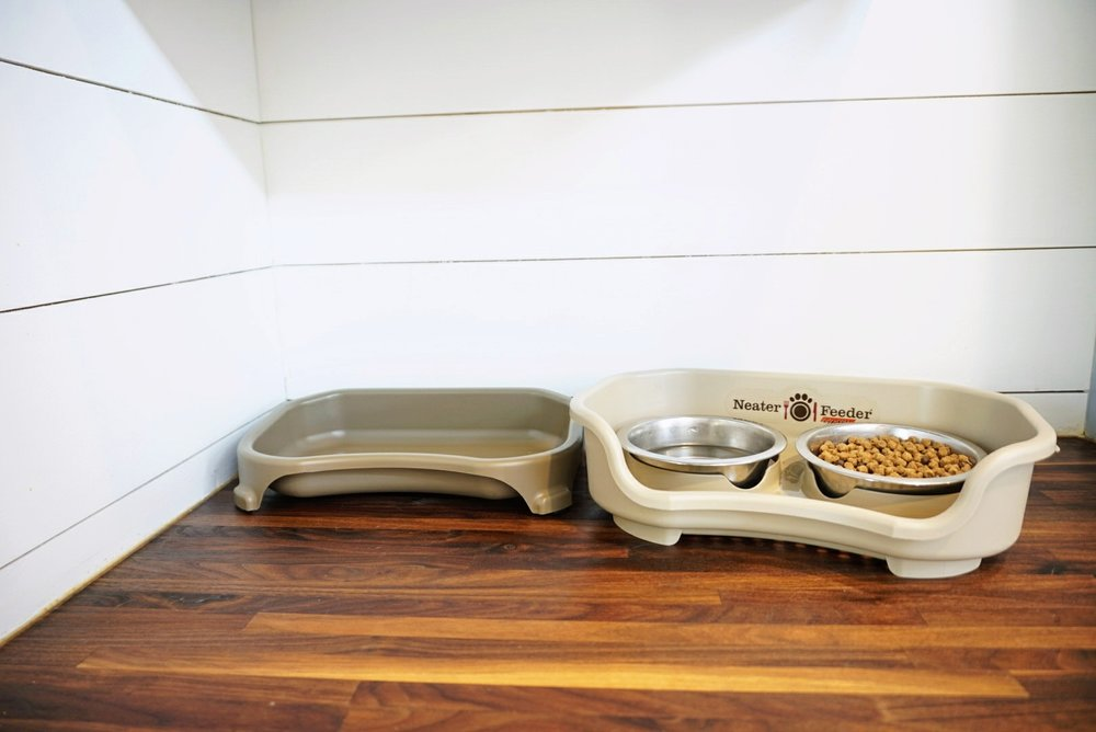 Neater Feeder for pets Tiny Living Space