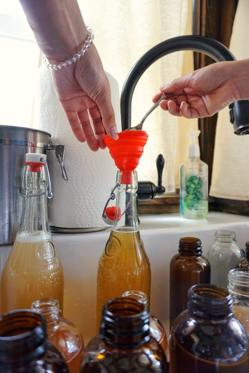 Tiny Home Kombucha Brewing Scoby bottling homemade organic flavors fruit original