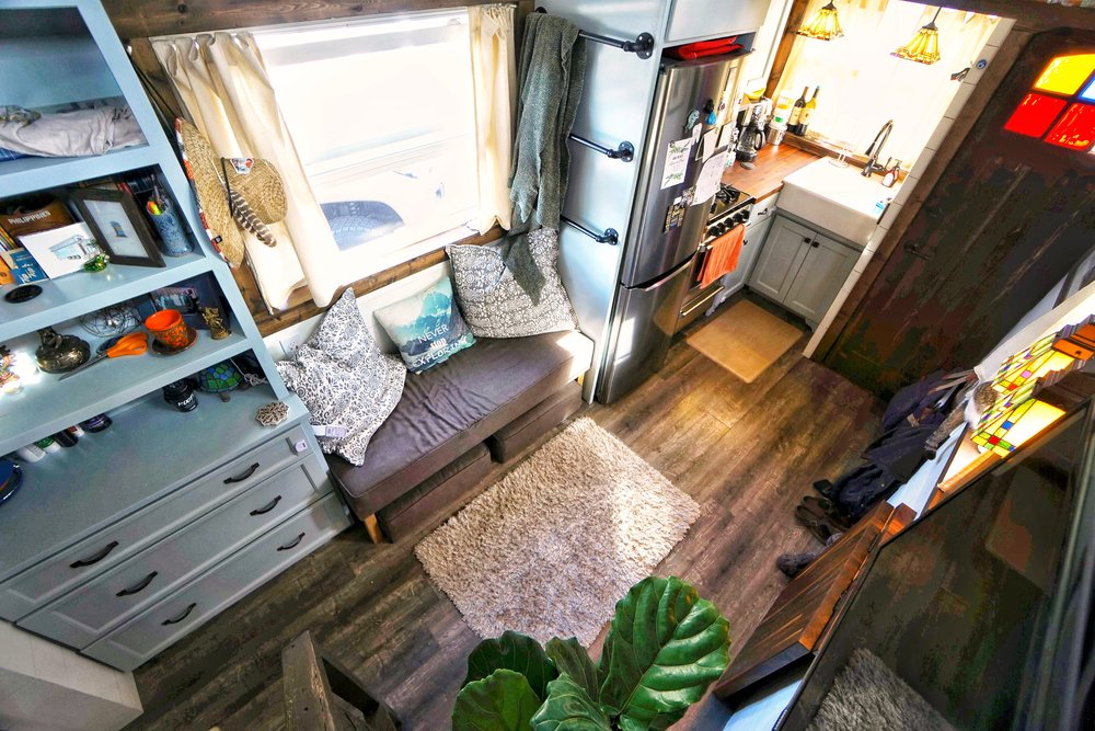 Tiny House tiny living fiddle leaf fig tree never stop exploring lg tiny house on wheels small living