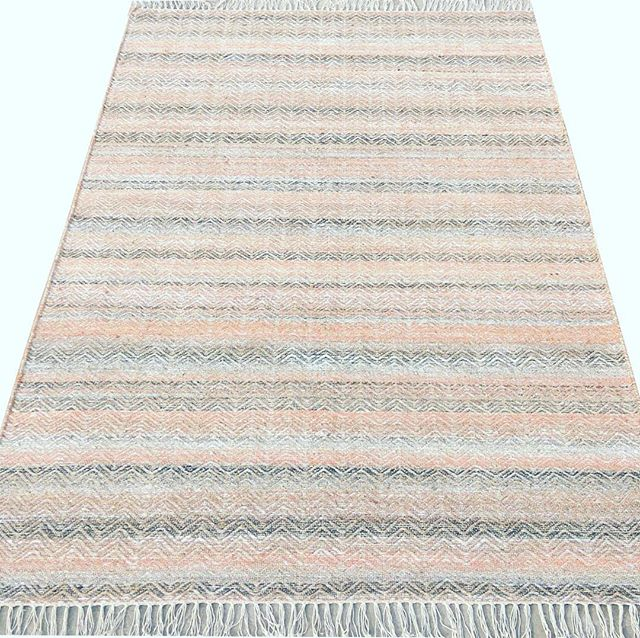 Jacquard Flatweave, made by hand using New Zealand Wool