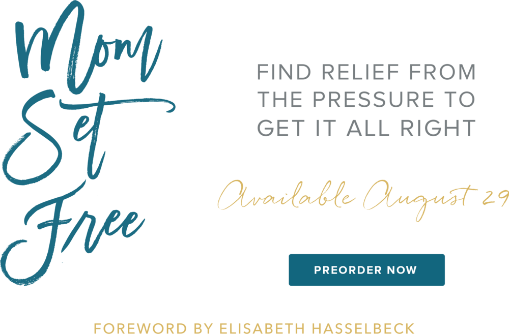 Find relief from the pressure to get it all right. Foreword by Elisabeth Hasselbeck
