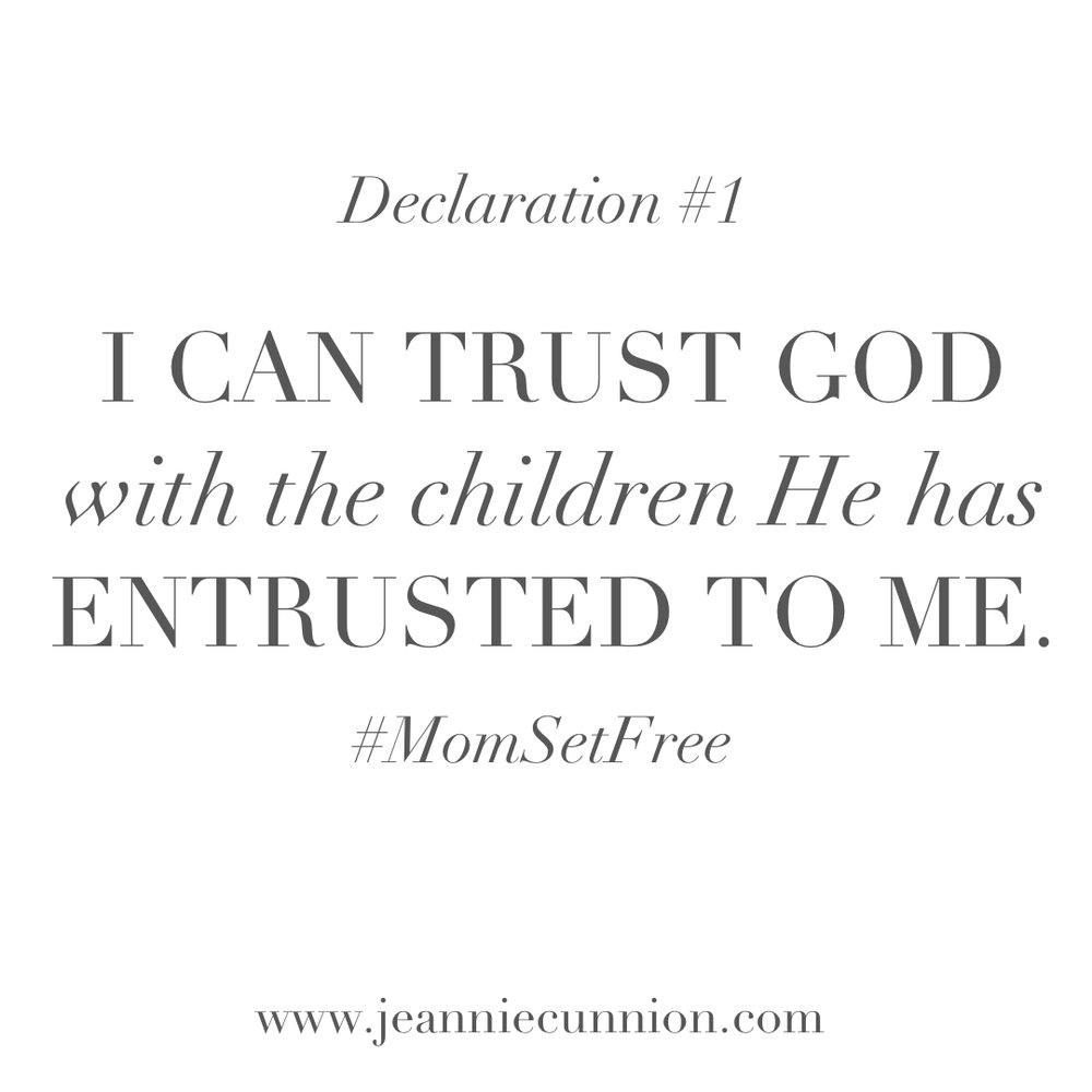I Can Trust God With The Children He Has Entrusted To Me Jeannie