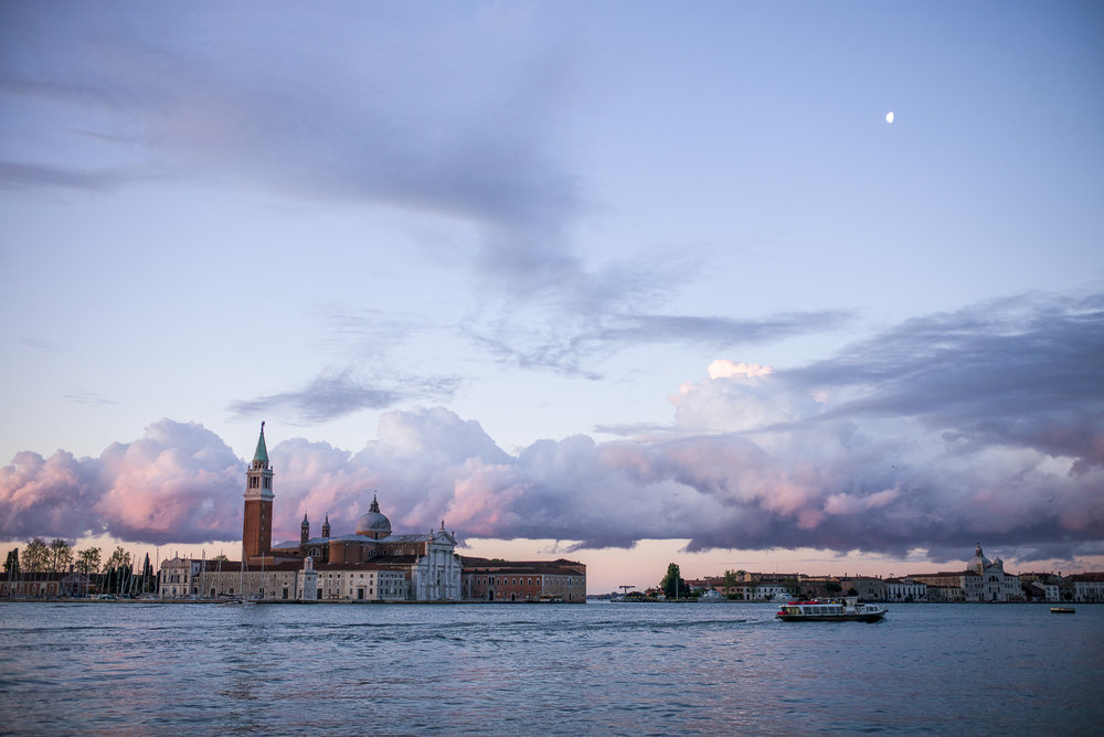 Morning Moon in Venice