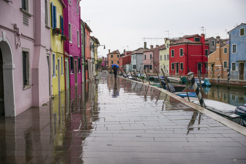 Walking in Burano Rain