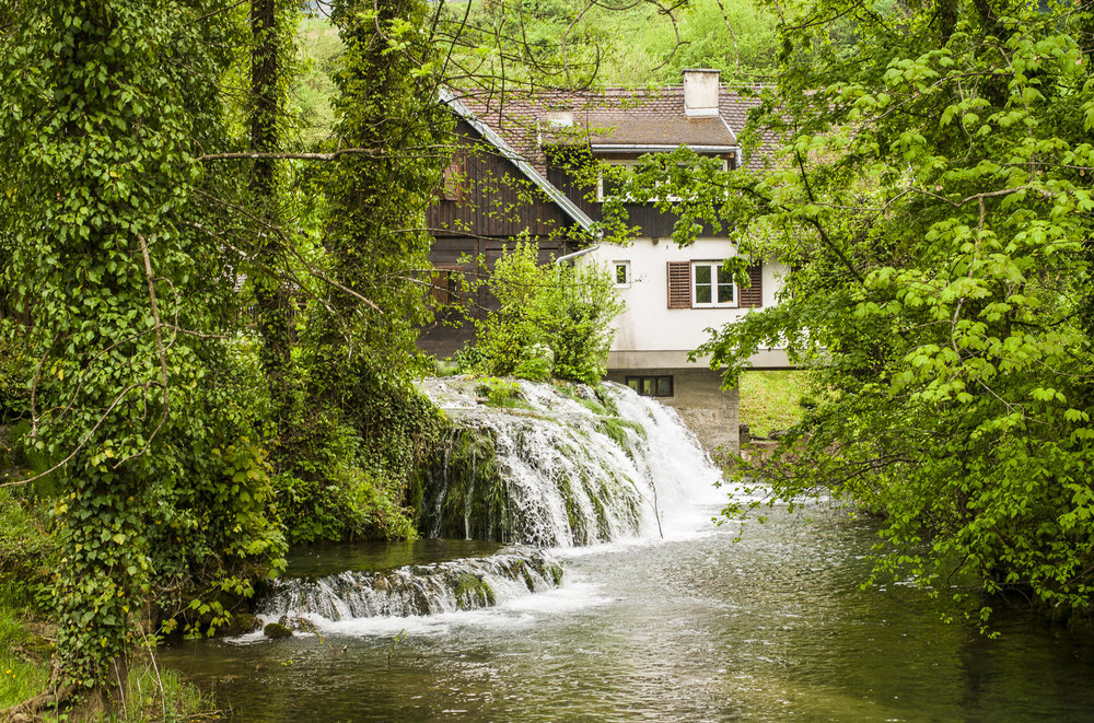 A little waterfall at Rastoke