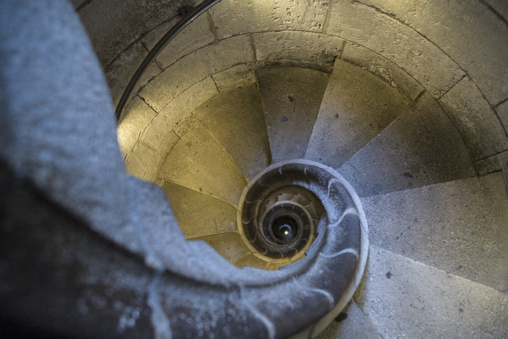 Looking Down the Tower
