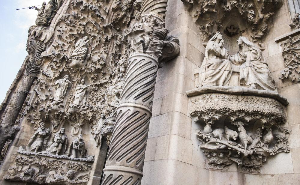 Detail of La Sagrada Familia