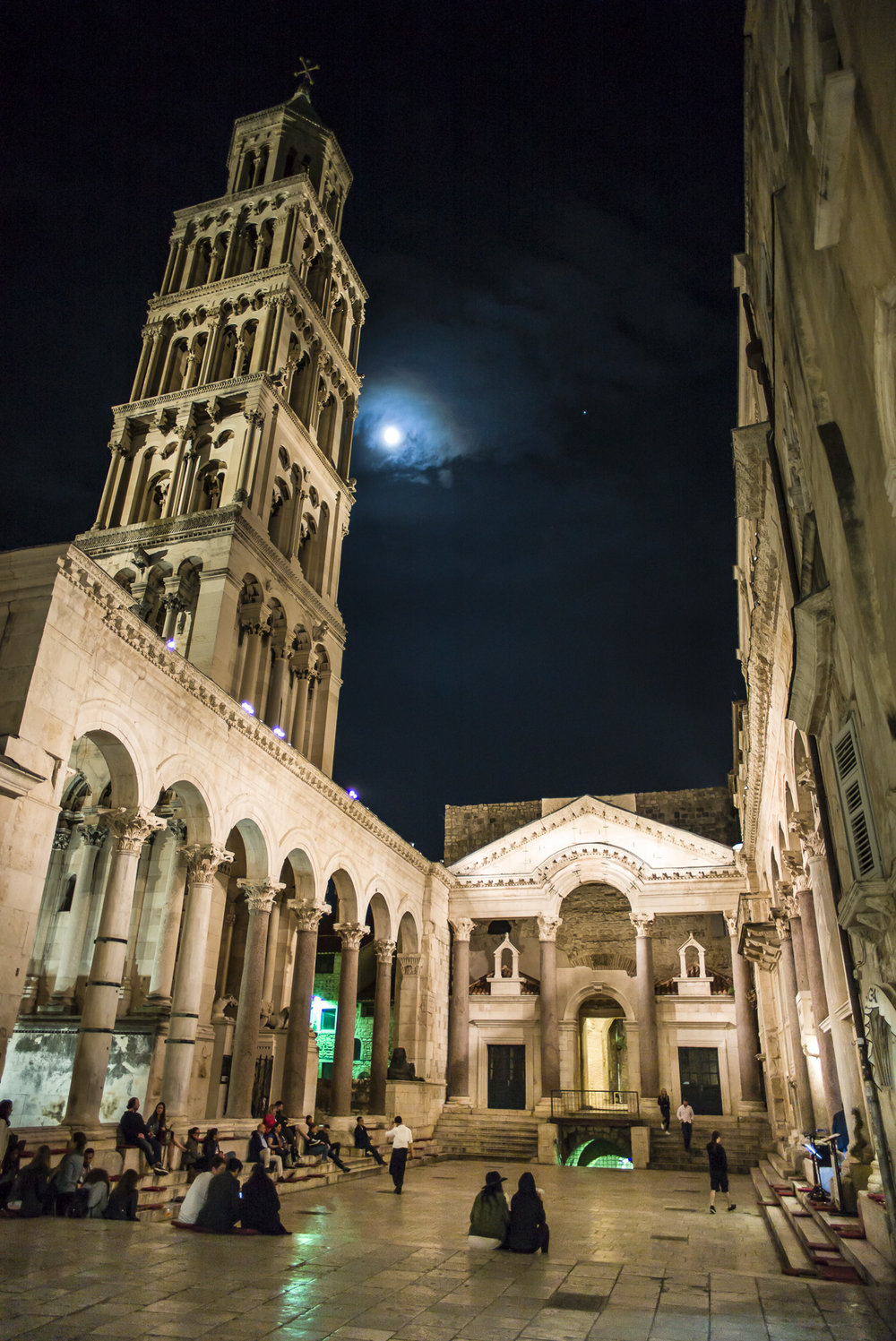 Evening concert at Peristil, the public square at Diocletian's Palace
