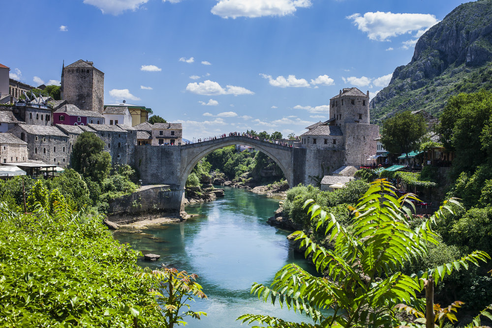 Neretva River under the Bridge