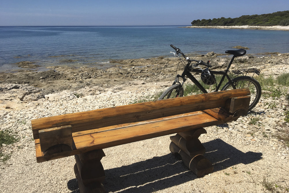 Bike stop on the Adriatic
