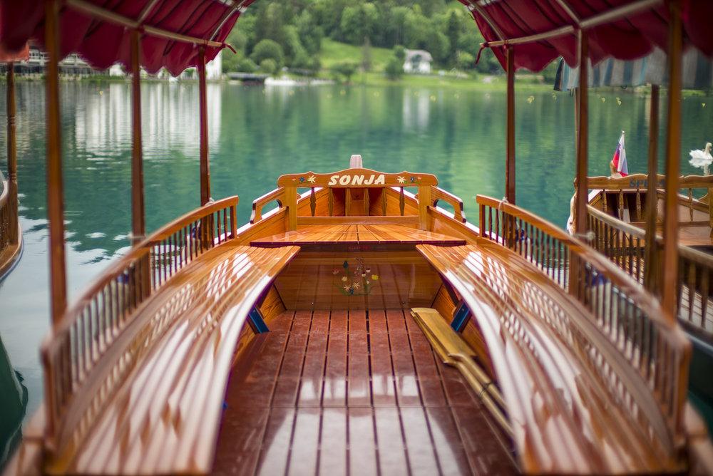 A Plenta boat on Lake Bled