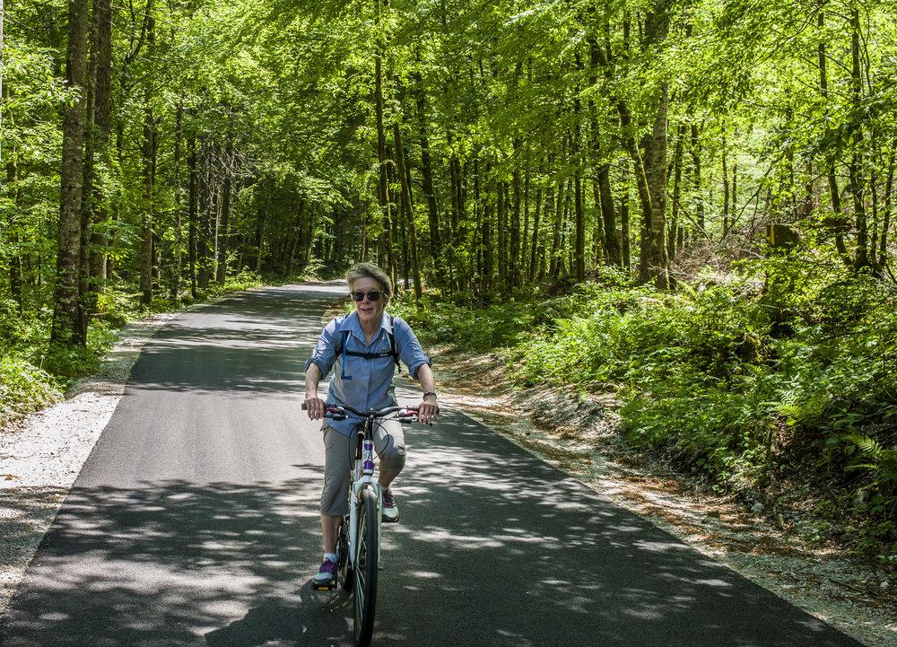 Riding through Triglav