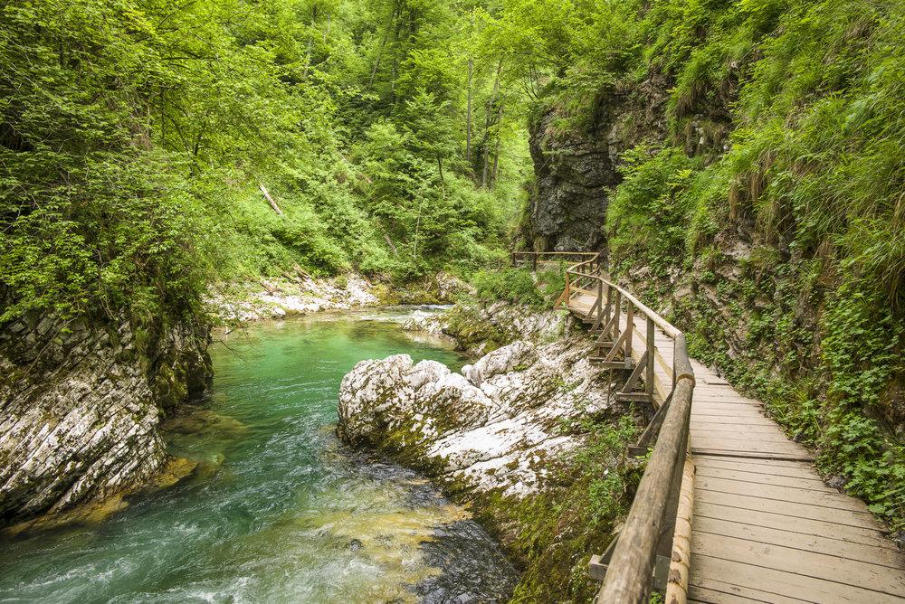 Walkway in Vingtar Gorge
