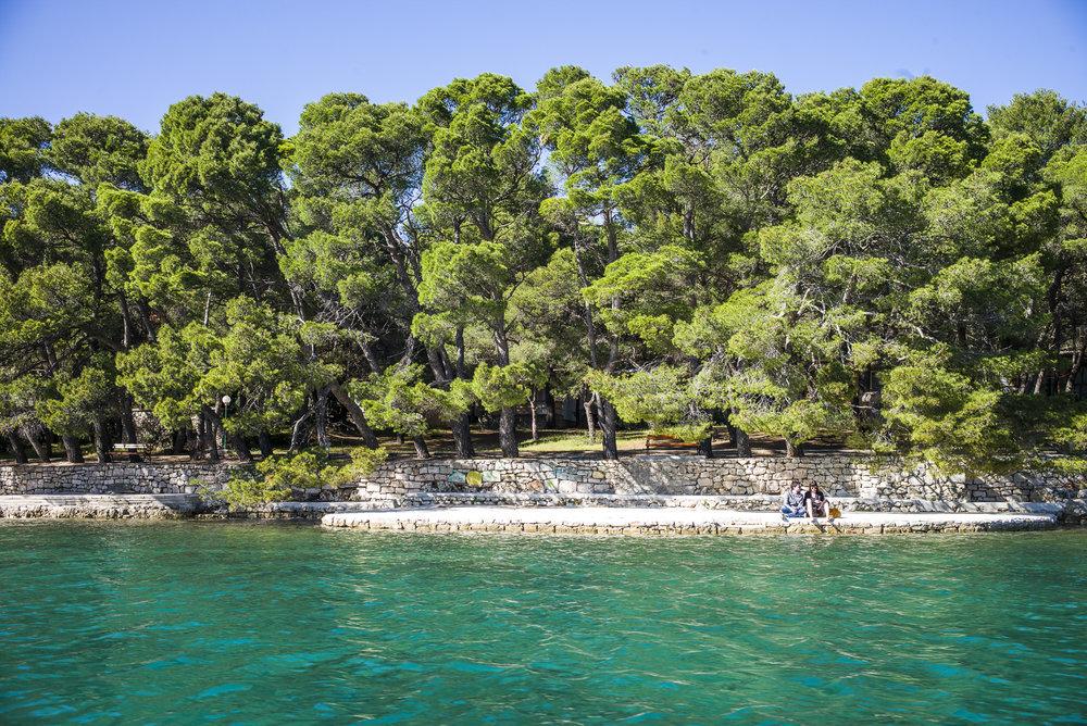 Shoreline off Zadar