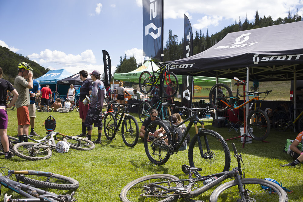 Base area at Deer Valley during a race