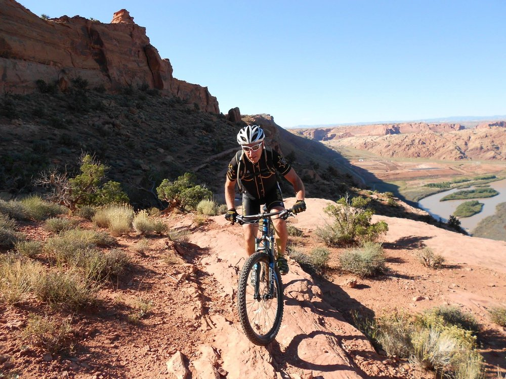 Riding the Portal Trail in Moab