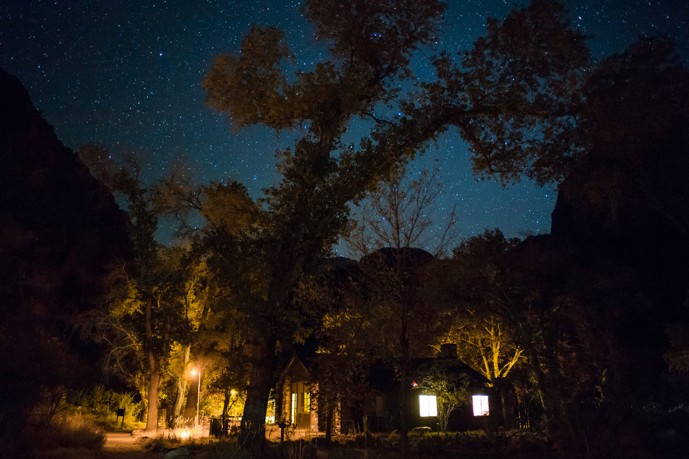 The Canteen at Phantom Ranch under the stars