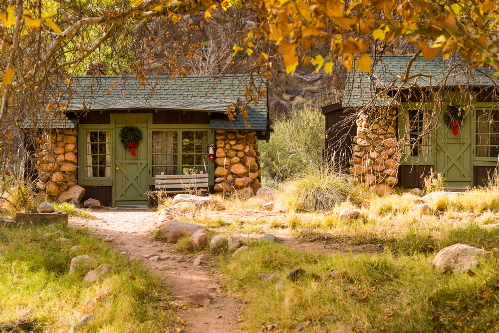 The cabins at Phantom Ranch