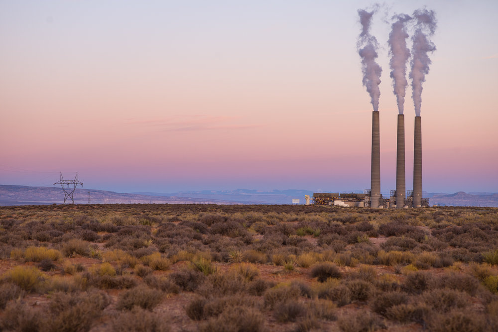 The Navaho Generating Station just outside Antelope Canyon