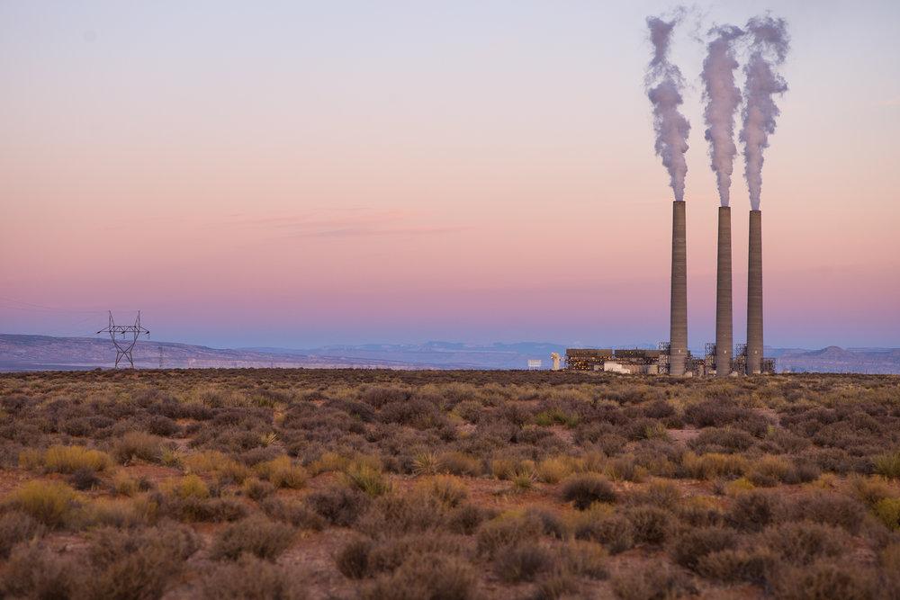 The Navaho Generating Station just outside Antelope Canyon