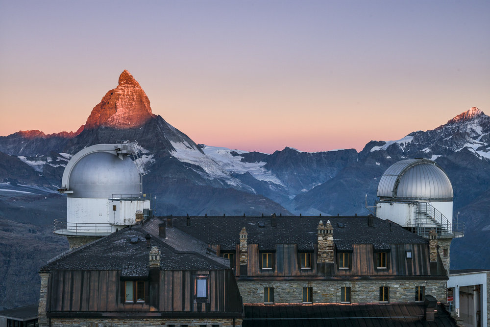 Sunrise on the Matterhorn with from the Kulm Hotel
