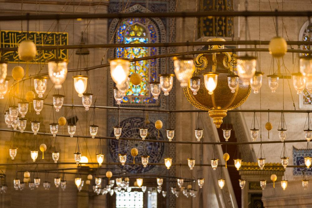 The lights of Suleymaniye Mosque