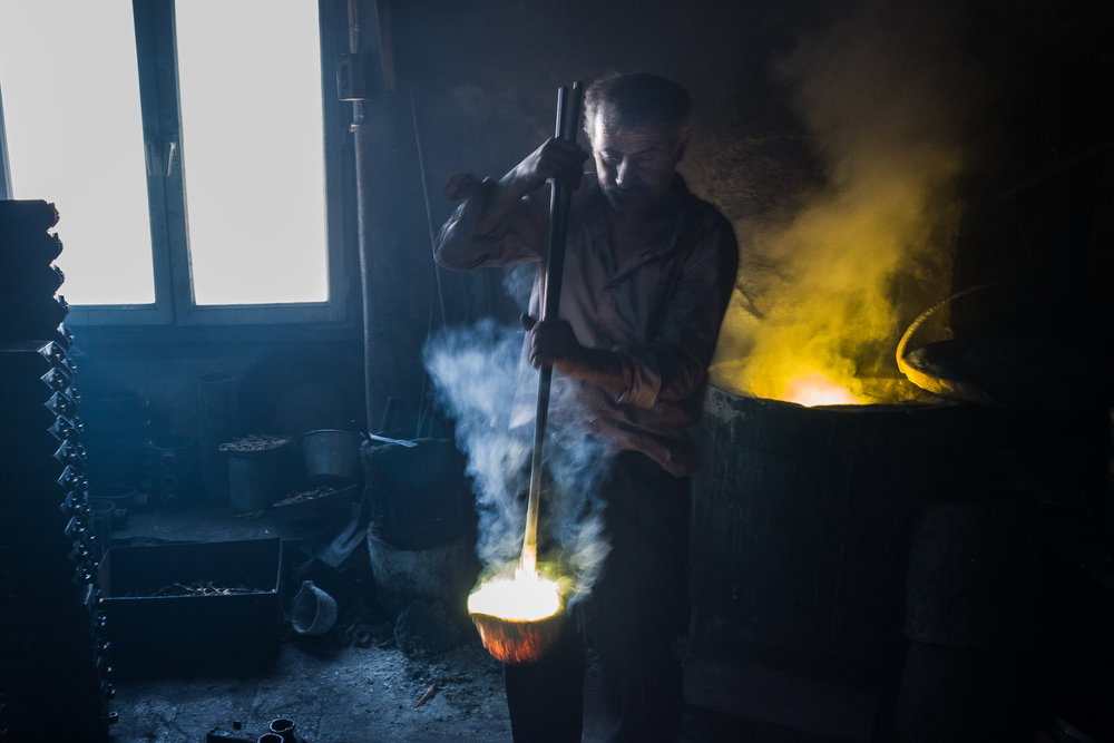 The brass caster's workshop