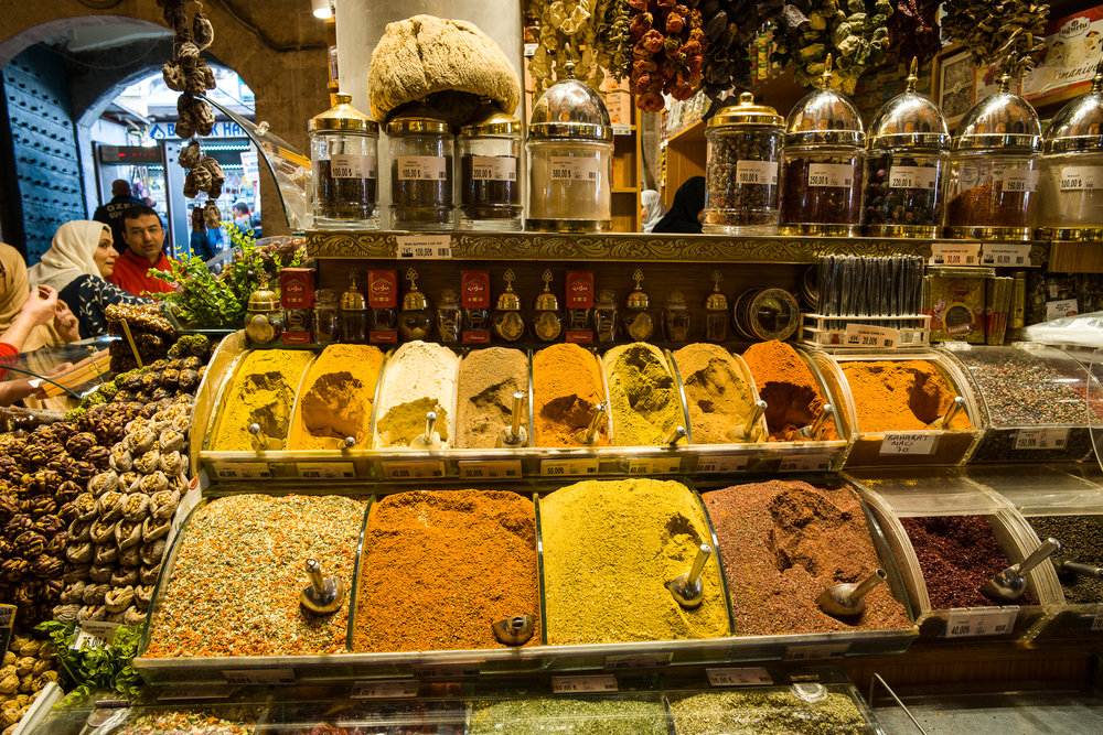 Spices in the Egyptian Spice Bazaar