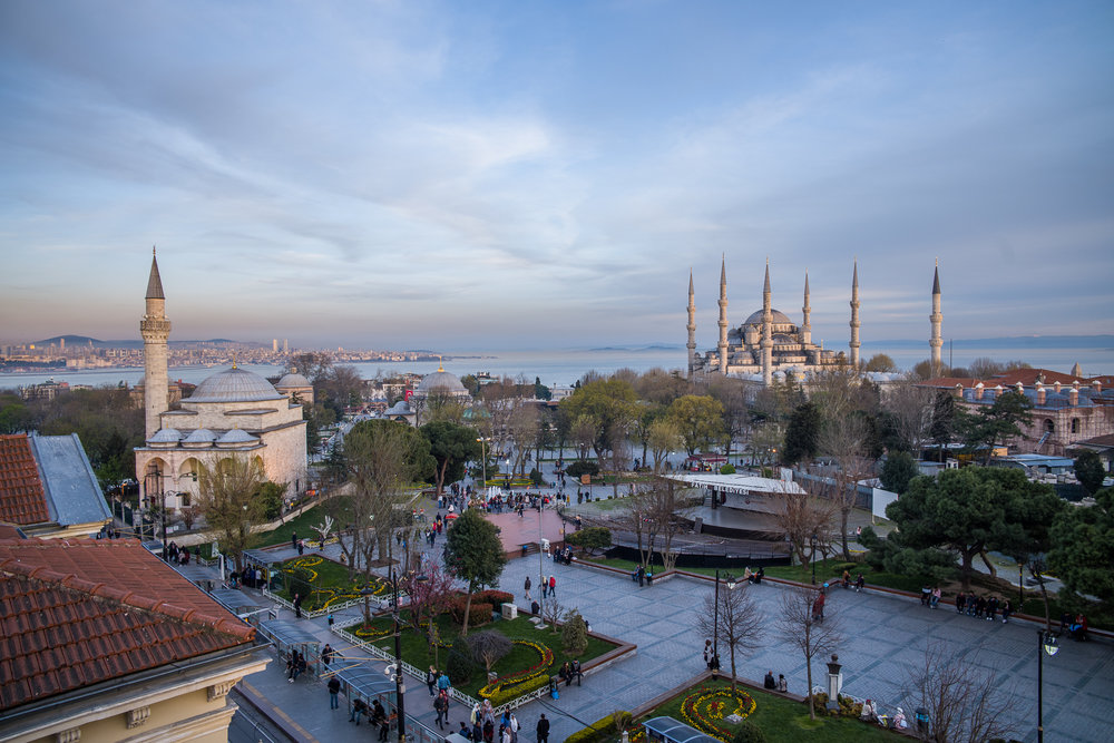 View from a tea shop above Istanbul