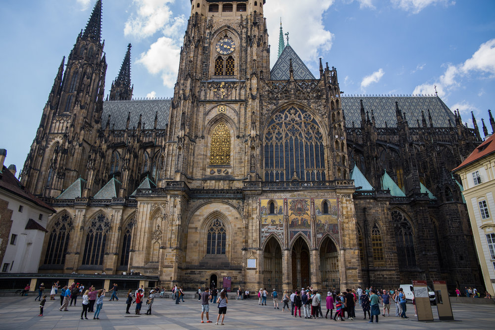 The square in front of St. Vitus Cathedral in Prague Castle