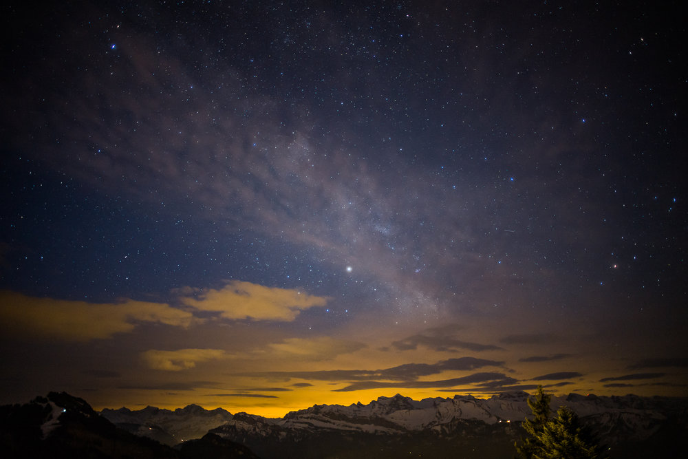 The night sky from Rigi Kaltbad