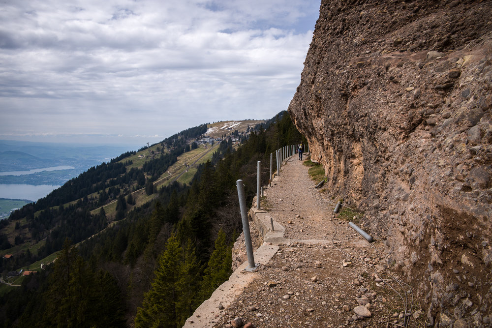 Hiking trail by Rigi Kaltbad