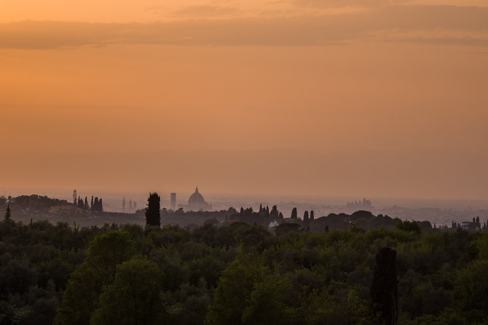 Viewing the Duomo from the Villa