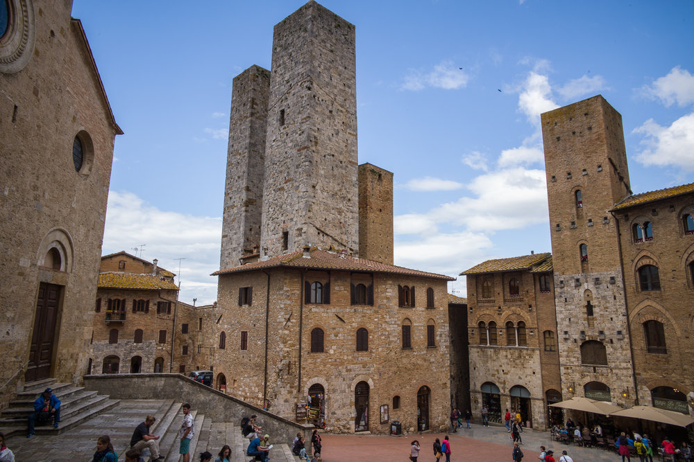 The public square in San Gimignano