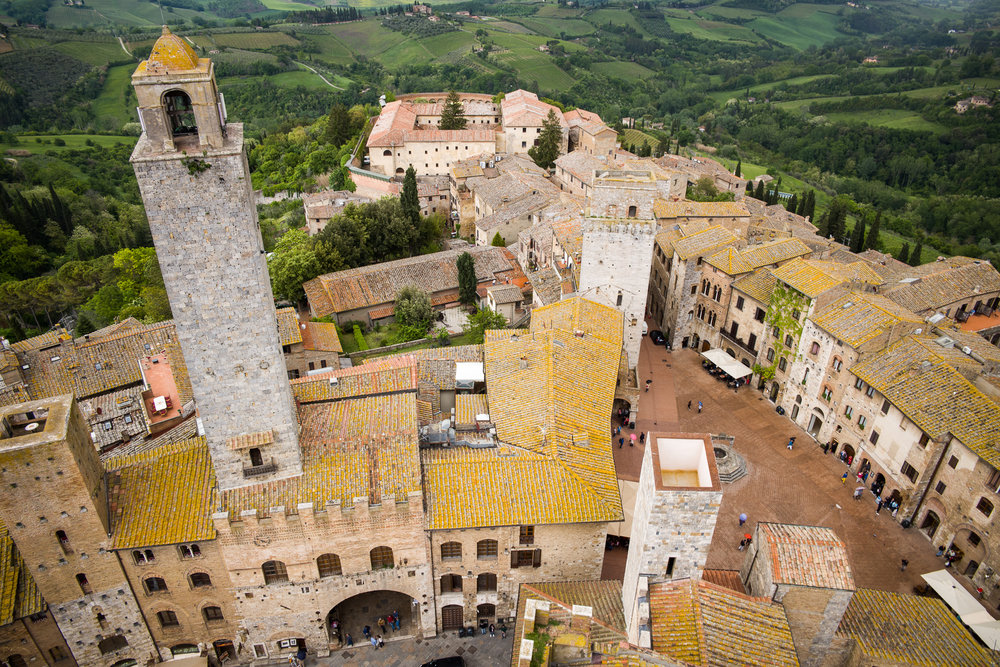 Looking down from the tower of San Gimignano