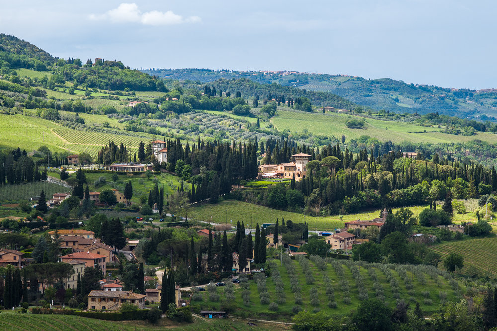 Tuscan hills around San Gimignano