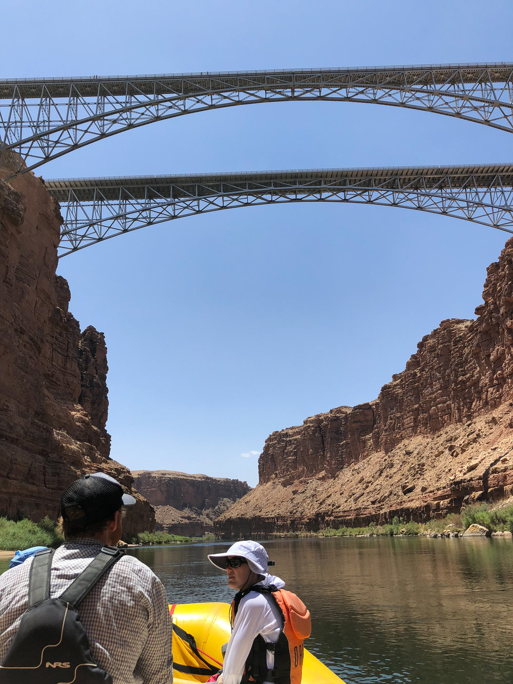 The Navajo bridge above is the last of civilization for many days