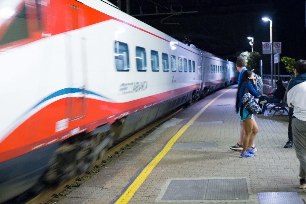 The train to Cinque Terre