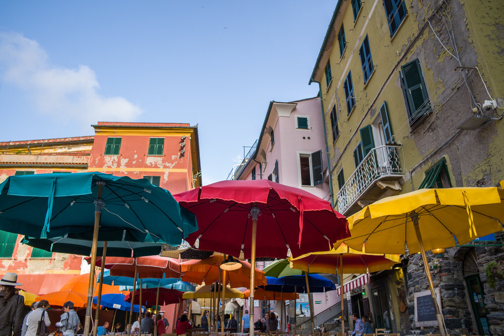 Umbrellas in Vernazza