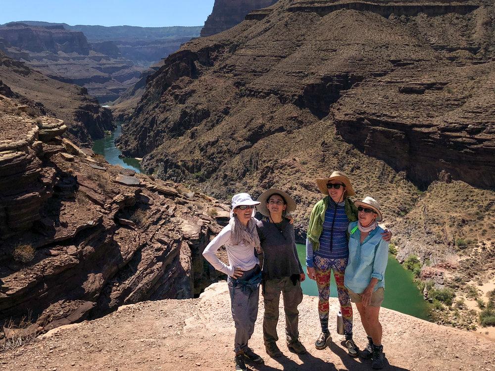 Women over the river above Deer Creek