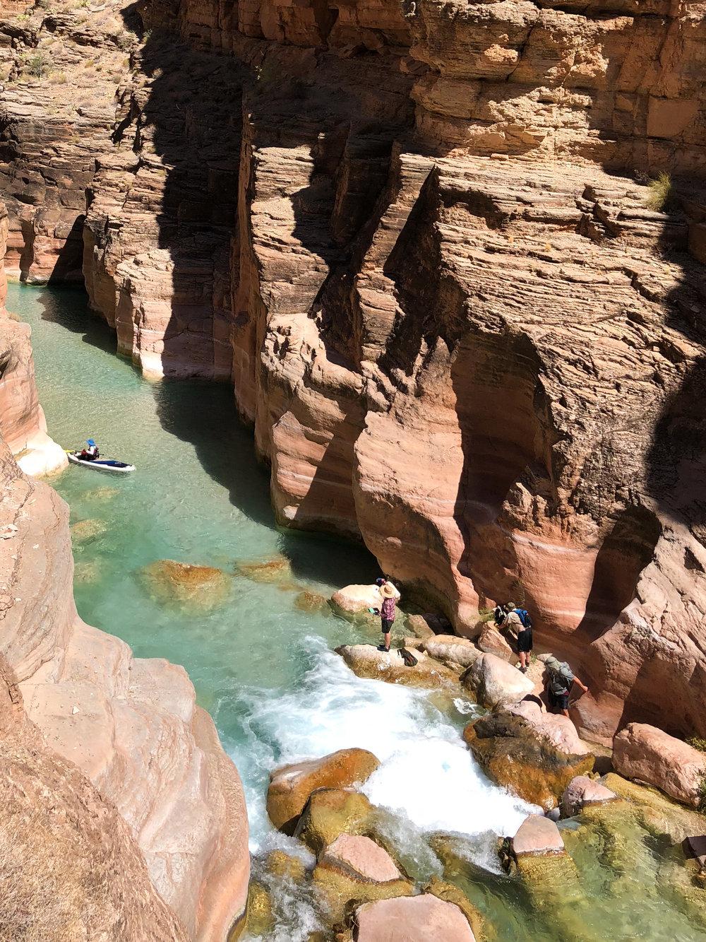 Kayaks in Havasu Creek