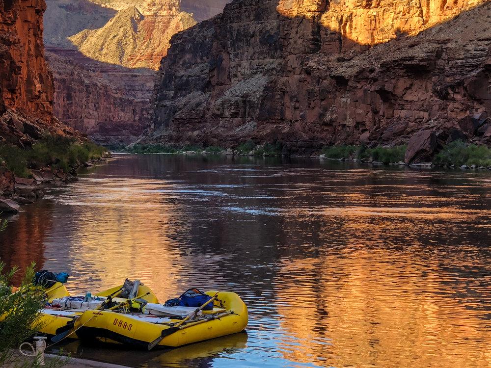 Rafts at Camp