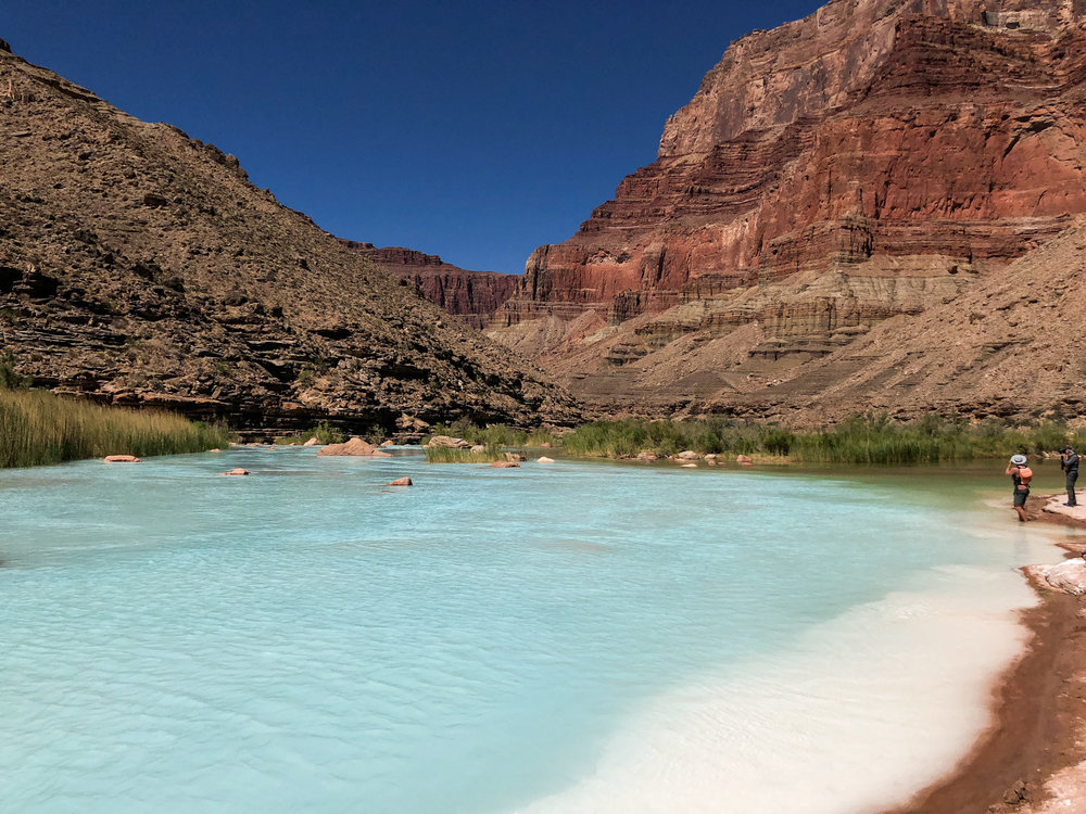 The turquoise blue of the Little Colorado River